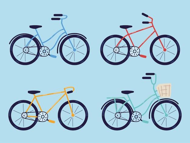 Set di icone della bici