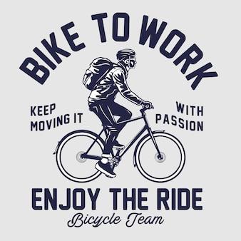 Bike to work illustrazione