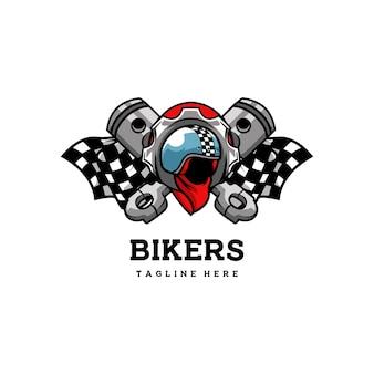 Motociclista club casco emblema distintivo velocità motore retrò classico