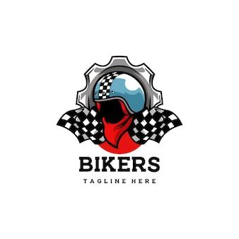 Biker club moto moto casco cranio banda racer racer scheletro
