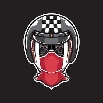 Testa di cyborg biker
