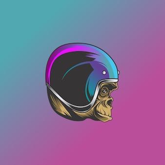 Scimmia biker