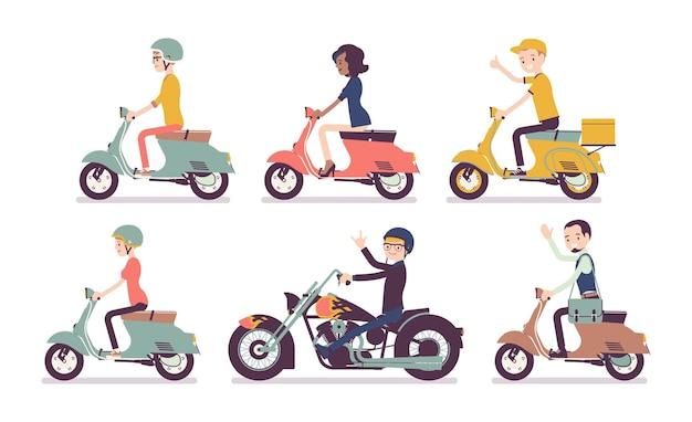 Piloti di motociclisti e scooter