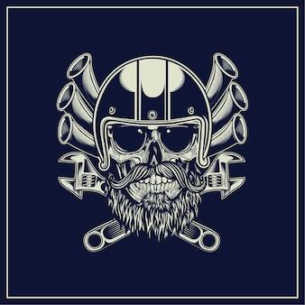 Cranio di motociclista