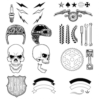 Bikers skull elements