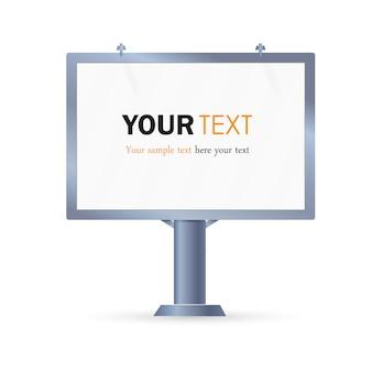 Tabellone. il layout per la tua pubblicità e banner pubblicitario