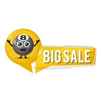 Palla da biliardo grande vendita mascotte simpatico personaggio