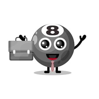 Palla da biliardo funziona mascotte simpatico personaggio