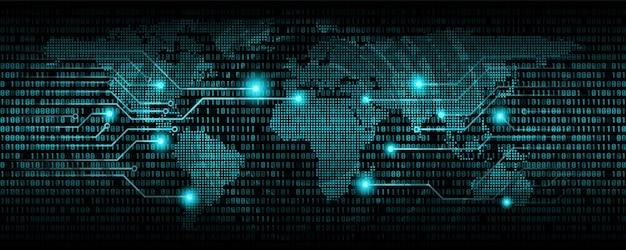 Codice binario astratto, codice di comunicazione digitale, sfondo di tecnologia