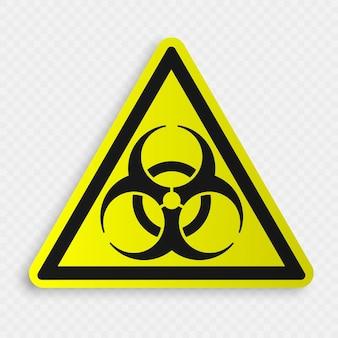 Segnale di rischio biologico su trasparente