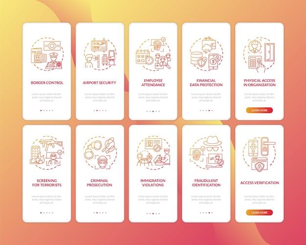 Utilizzo della biometria nella schermata della pagina dell'app mobile con concetti