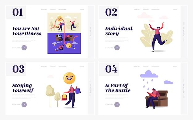 Set di modelli di pagina di destinazione del disturbo bipolare.