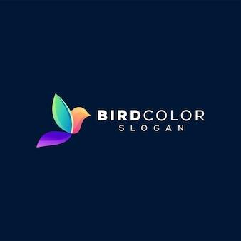 Design logo sfumato di colore dell'uccello