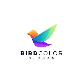 Design del logo sfumato di colore dell'uccello