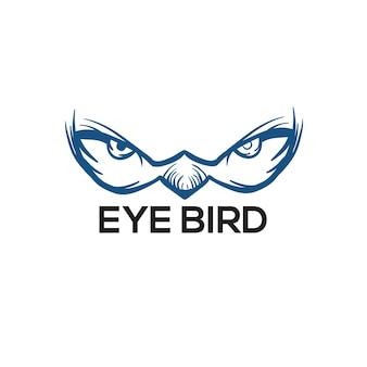 Illustrazione di vettore di logo dell'occhio dell'uccello