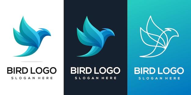 Collezione logo uccello