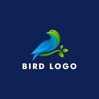 Bird logo design, animale icona simbolo illustrazione