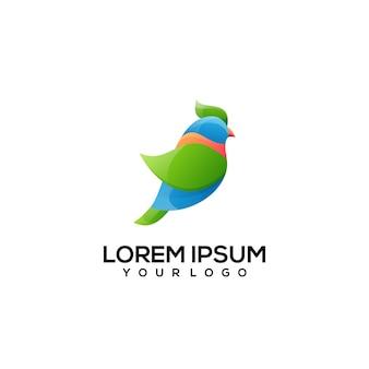 Design del logo dell'uccello colorato