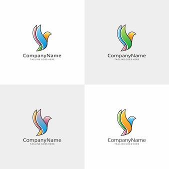 Modello di progettazione logo uccello.