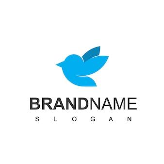 Modello di progettazione del logo dell'uccello