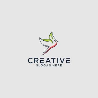 Il design grafico del logo dell'uccello per altri usi è perfetto
