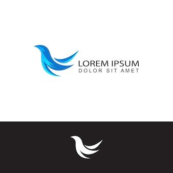 Disegno del modello del logo dell'uccello