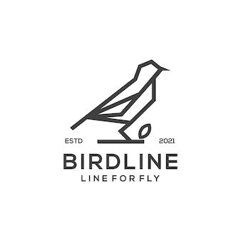 Modello di logo dell'uccello