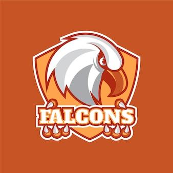 Modello di logo mascotte uccello