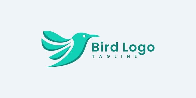 Modelli di progettazione del logo dell'illustrazione di vettore del logo della siluetta dell'uccello.