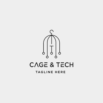 Birdcage internet logo design vettore wifi icona casa siymbol segno isolato