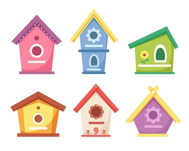 Birdhouses. casette da giardino per l'alimentazione degli uccelli