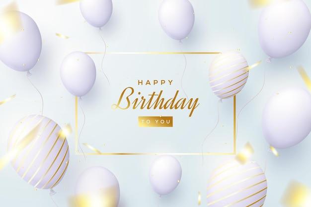 Sfondo di compleanno con luce brillante