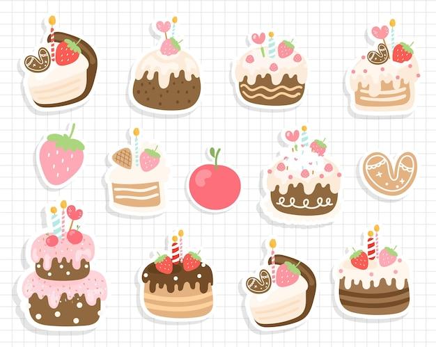 Adesivo per torta di compleanno, adesivo per compleanno