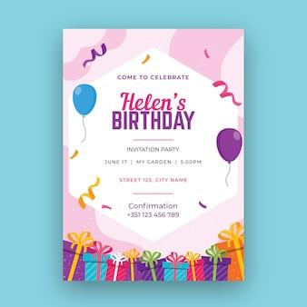 Concetto di carta di compleanno