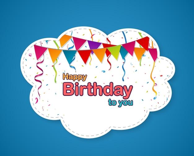Sfondo di celebrazione di compleanno