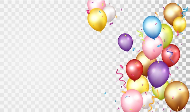Compleanno e celebrazione con palloncino colorato