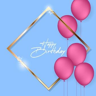 Sfondo festivo di compleanno con palloncini di elio.