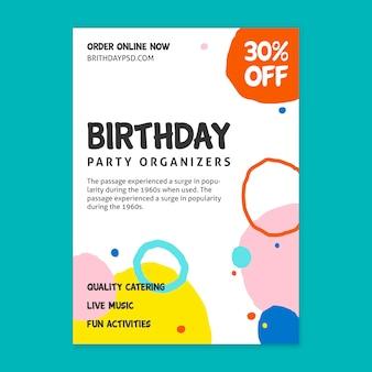 Compleanno flyer v concept