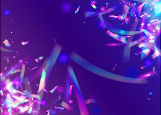 Glitter di compleanno. orpello di carnevale. trama trasparente. arte festiva. prisma di sfocatura