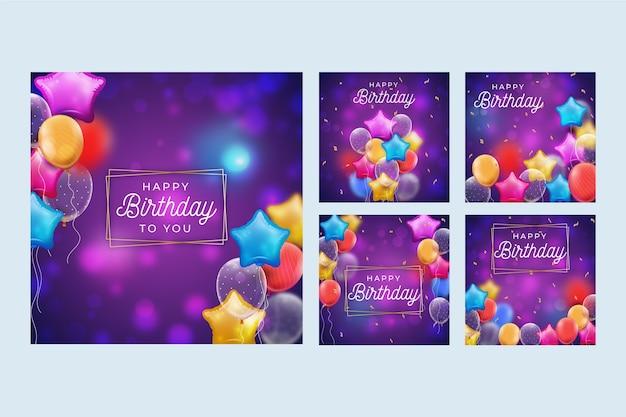 Raccolta di post instagram compleanno