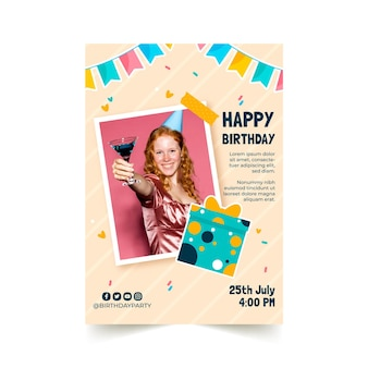 Modello di volantino di invito di compleanno