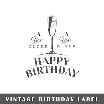 Etichetta di compleanno illustrazione isolata