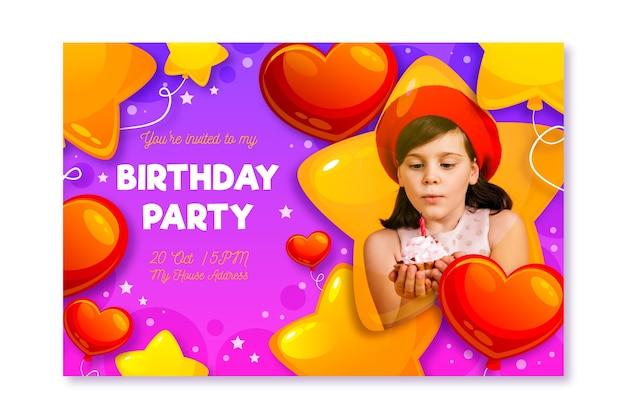 Biglietto festa di compleanno pronto per la stampa