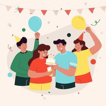 Illustrazione di festa di compleanno