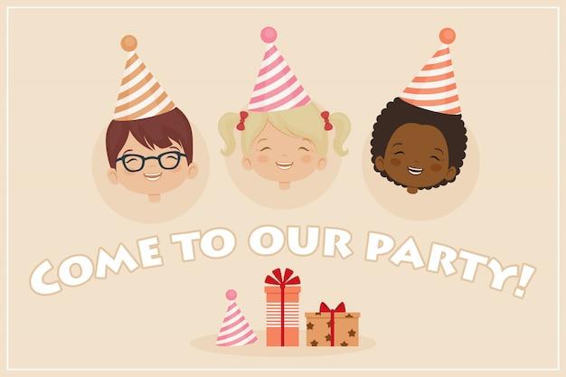 Modello di carta di invito festa di compleanno