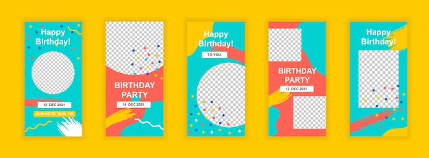 Modello di banner social media festa di compleanno