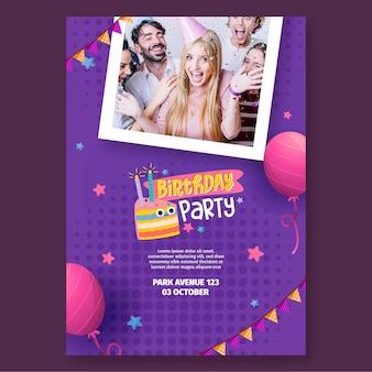 Concetto di poster di compleanno