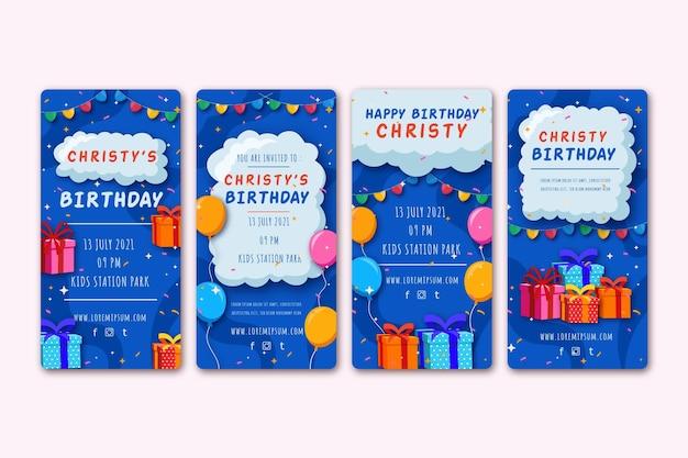 Storie di social media di compleanno