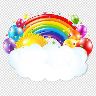 Tema di compleanno isolato con maglie gradiente illustrazione