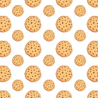 Modello di progettazione di sfondo del personaggio di biscotto